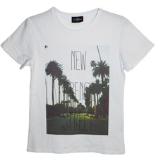 French Street - T-shirt en coton col rond - blanc