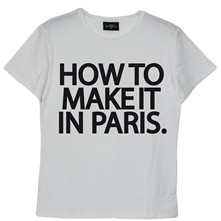 How to make it in Paris - T-shirt en coton col rond - blanc