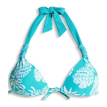 Tampa Beach - Haut de maillot triangle push-up - turquoise