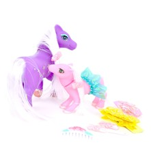 Lot de 2 poneys - multicolore