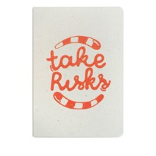Take risks - Carnet paillettes - citrouille