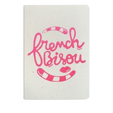 French bisou - Carnet paillettes - rose