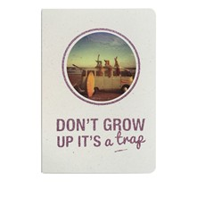 Don't grow up - Carnet paillettes et visuel - violet