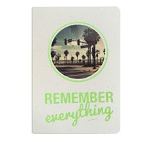 Remember everything - Carnet paillettes et visuel - mousse