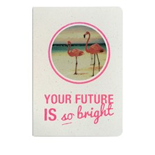 Your future is so bright - Carnet paillettes et visuel - rose