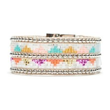 Twins Blue - Bracelet manchette - multicolore
