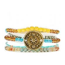 Mini Star - Bracelet manchette, multi-rangs - multicolore