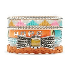 Blue Hope - Bracelet manchette, multi-rangs - multicolore