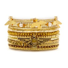 Oh My Gold - Bracelet manchette, multi-rangs - or