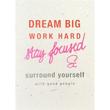 Dream Big - Poster - corail