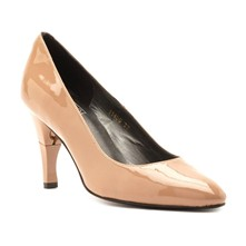 Moon - Escarpins cuir talon pliable et rétractable - beige
