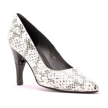 Moon Boa - Escarpins cuir nappa talon pliable et rétractable - blanc