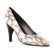 Moon Boa - Escarpins cuir nappa talon pliable et rétractable - taupe