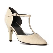 Lady Galucha - Salomé cuir talon pliable et rétractable - beige