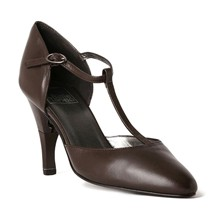 Lady Nappa - Chaussures femme salomé en cuir a talon retractable - Marron chocolat