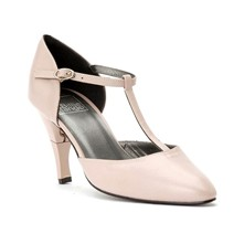Lady Nappa - Chaussures femme salomé en cuir a talon retractable - rose