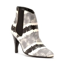 Heart Python - Bottines femme en cuir python a talon retractable - gris