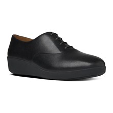 F-pop oxford - Derby in pelle - nero