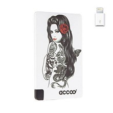 Chargeur nomade design Lolita pour Smartphone - blanc