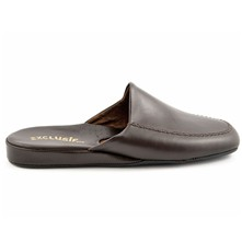 Confort - Chaussons en cuir - marron