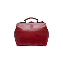Sac business en cuir - rouge