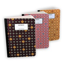 Set de 3 carnets - multicolore
