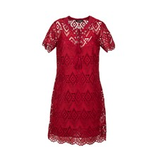 Robe courte - rouge