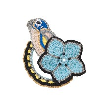 Chickadee - Broche - bleu