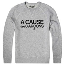a cause des garçons - Sweat shirt coton bio - gris chine