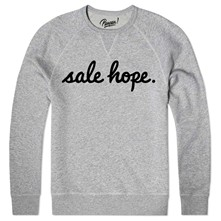 sale hope - Sweat shirt coton bio - gris chine