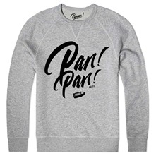 panpan paris font - Sweat shirt coton bio - gris chine
