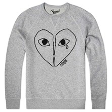 heartbroken - Sweat shirt coton bio - gris chine