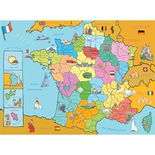 Carte de France - Puzzle - multicolore