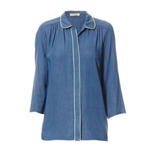 Blouse - denim bleu