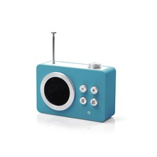 Mini dolmen radio - High Tech - bleu
