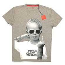 Stop Wars - T-shirt - gris chine