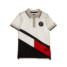 Colorblock Flag - Polo - blanc