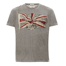Flag Logo - T-shirt - gris chine