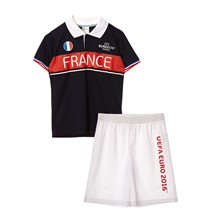 Ensemble T-shirt et short France - bleu