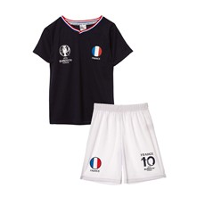 Ensemble T-shirt et short France - blanc