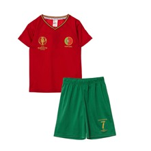 Ensemble T-shirt et short Portugal - rouge
