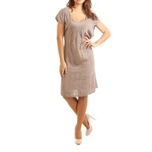 Paris - Robe en lin - taupe