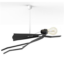 SuperMoonwalk - Lampe suspension - noir