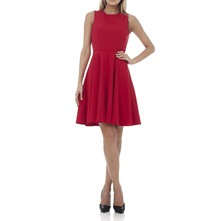 Robe corolle - rouge