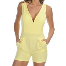 Lisa - Combi-short - jaune