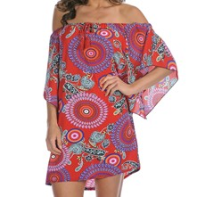 Shanon - Robe tunique - rouge
