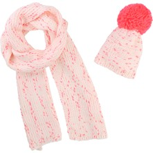 Bonnet et snood - rose