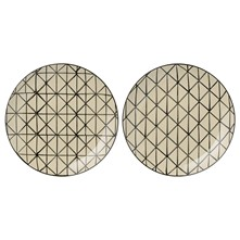 Julie - Lot de 2 assiettes plates - bicolore