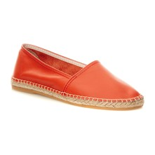 1010 - Espadrilles en cuir - orange