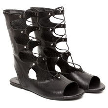 Kimberly - Spartiates en cuir - noir